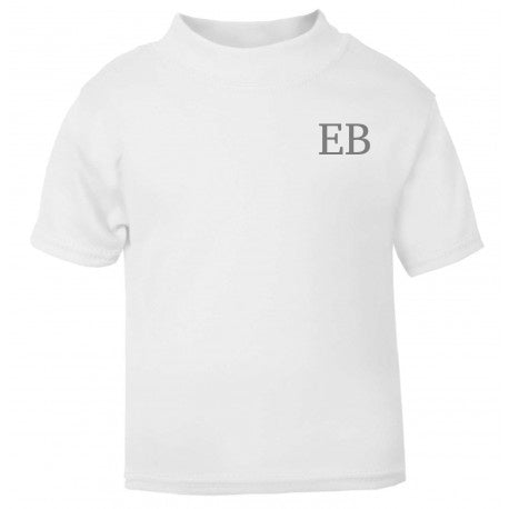 Personalised White Short Sleeve T-Shirt