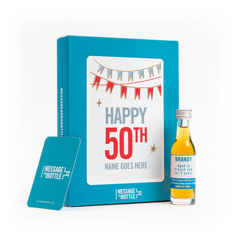 Birthday card with alcoholic gift