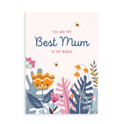 """Best Mum in the world"" card with gin, whisky, vodka, brandy or rum"