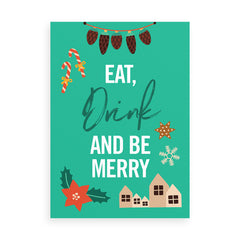 Eat, Drink and be Merry Christmas card