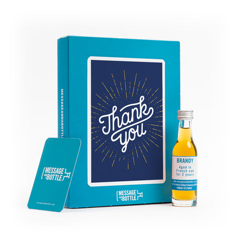 Thank you card with alcohol gift