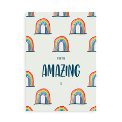 You're Amazing Rainbow card with gin, whisky, vodka, brandy or rum