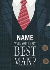 "Personalised ""Will you be my best man?"" card"