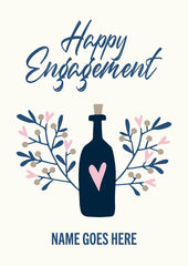 "Personalised ""Happy engagement"" card"