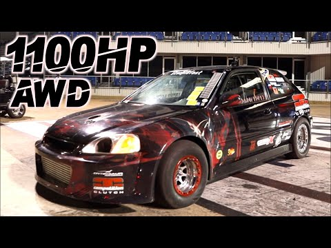 AWD Civic UPSETS Domestic Muscle! 1100HP