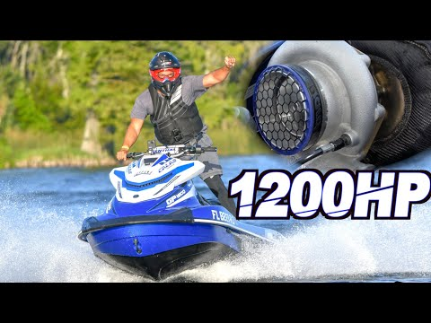1200HP Turbo Jetski on 60PSI Runs 135MPH - FASTEST Jetski on the PLANET!