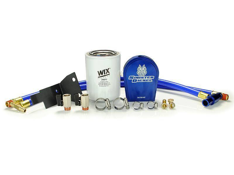 Sinister Diesel 03-07 Ford 6.0L Ford Powerstroke Coolant Filtration System w/ Wix Filter