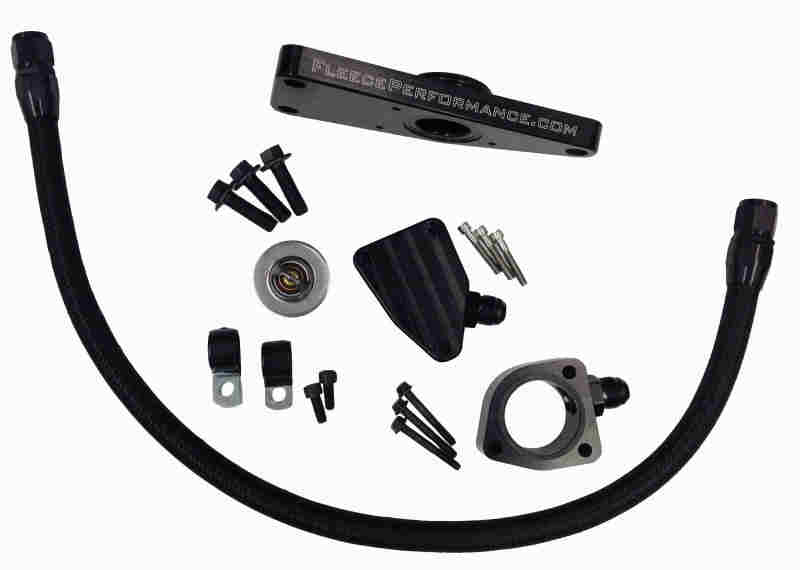 Fleece Performance 03-07 Dodge 5.9L / 04.5-12 6.7L Cummins Coolant Bypass Kit (03-07 Manual Trans)