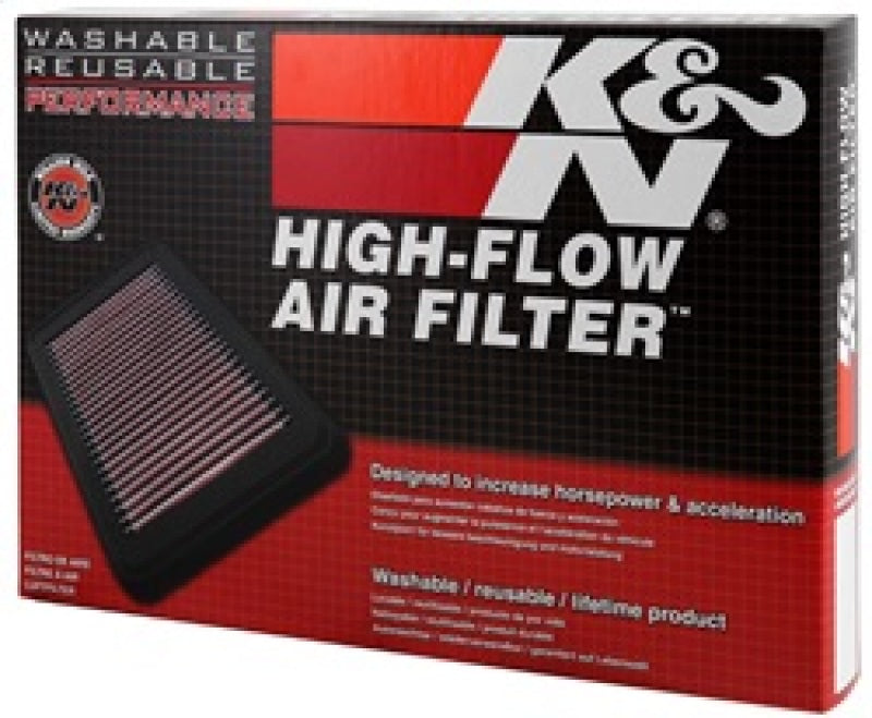 K&N 17-19 Ssanyong Rexton L4-2.2L DSL Replacement Drop In Air Filter