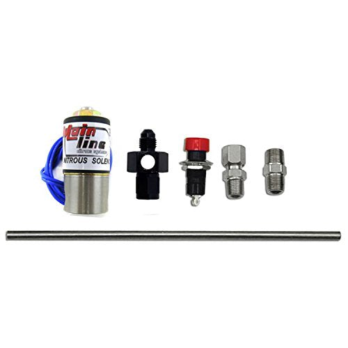 Nitrous Express ML15600 Nitrous Purge Valve Kit -04AN Manifold Adapter Fitting Push Button Activation Vent Tube Nitrous Purge Valve Kit