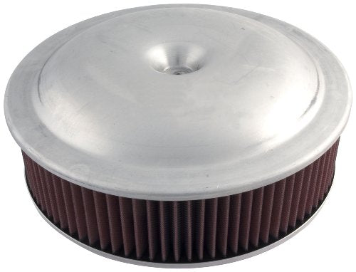 "Allstar ALL26090 14"" Diameter Plain Aluminum Finish Carburetor Air Cleaner Top"