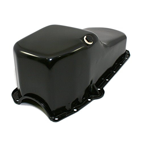 Assault Racing Products A9005PBK Small Block Chevy Stock Capacity Black Painted Oil Pan SBC 327 350 400