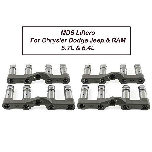 GELUOXI for Chry sler DODGE JEEP RAM 05-17 5.7 6.4 HEMI w/MDS FRONT + REAR LIFTERS 53021726AD 53021720AB (MDS Lifters)