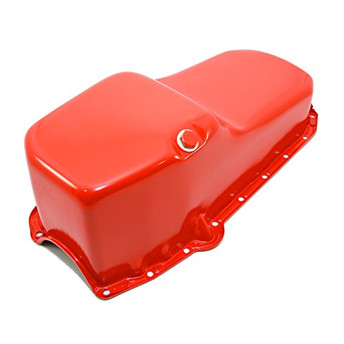 Assault Racing Products A9005P Small Block Chevy Stock Capacity Orange Painted Oil Pan SBC 327 350 400