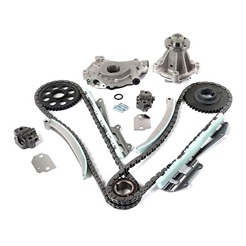 Engine Timing Chain Kit with Oil Pump Water Pump, Compatible with 1997-2001 Ford Expedition 4.6L | 1997-2001 Ford F-150 4.6L | 1997-1999 Forld F-250 4.6L Remeo