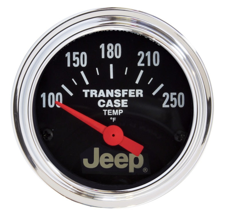 Autometer Jeep 52.4mm Short Sweep Electronic 100-250 Def F Transfer Case Temperature Gauge
