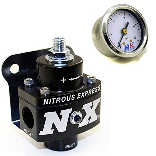 Nitrous Express 15952 Holley Fuel Pressure Regulator w/Fuel Pressure Gauge Holley Fuel Pressure Regulator