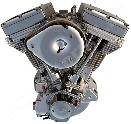 298-245 - S&S Cycle Upgraded Ultima El Bruto Competition Series Evolution Style Big Bore Motorcycle Engine (Chrome & Show Polished Finish, 140 Cubic Inches)