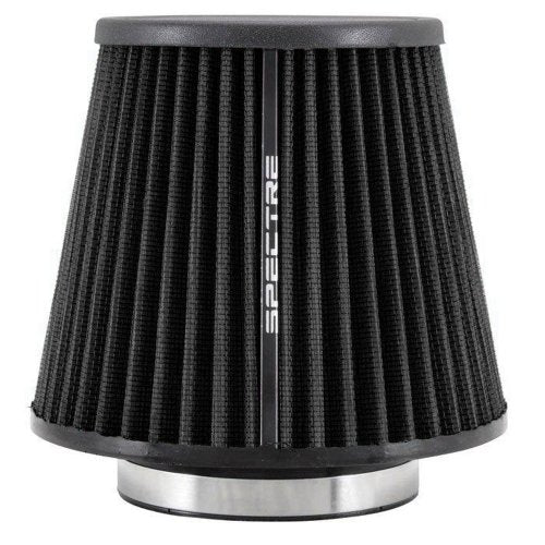 Spectre Universal Clamp-On Air Filter: High Performance, Washable Filter: Round Tapered; 4 in (102 mm) Flange ID; 6.75 in (171 mm) Height; 6.813 in (173 mm) Base; 4.719 in (120 mm) Top, SPE-HPR9617K