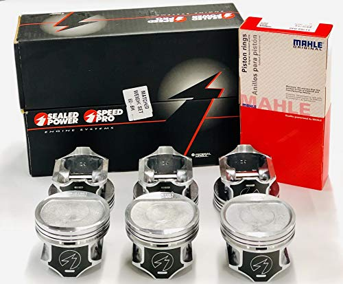 "Sealed Power Pistons & Rings COMBO Set of (6) compatible with 1996-2006 Jeep Cherokee Wagoneer 4.0 4.0L 242. (STD 3.875"" Bore)"