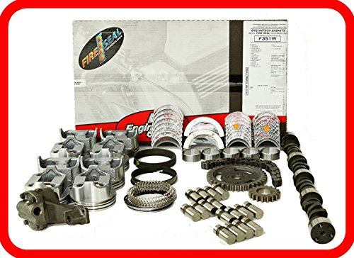 Master Engine Rebuild Kit FITS: 67-85 Chevrolet SBC 350 5.7L V8 w/Stage-1 HP Cam & Flat-Top Pistons