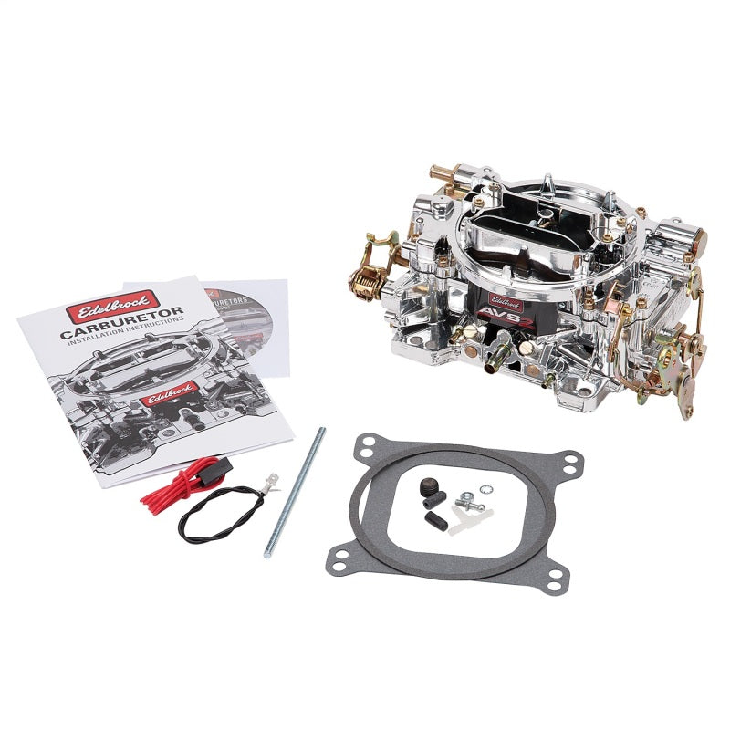 Edelbrock AVS2 500 CFM Carburetor w/Manual Choke Endurashine Finish (Non-EGR)