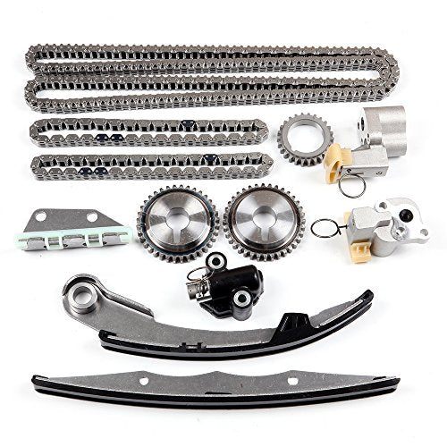 SCITOO Timing Chain Kit fits for 2005-2015 Nissan Frontier NV1500 NV2500 NV3500 Pathfinder Xterra Suzuki Equator 2.5L 2.4L 4.0L