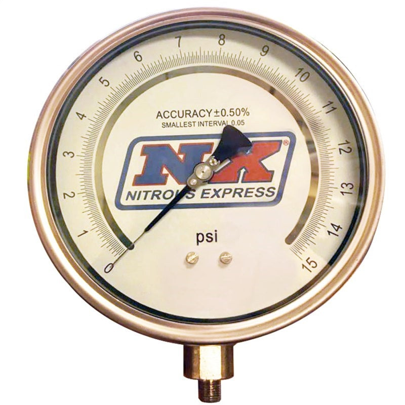 Nitrous Express 6 Certified Pressure Gauge Only (Gauge From P/N 15529)