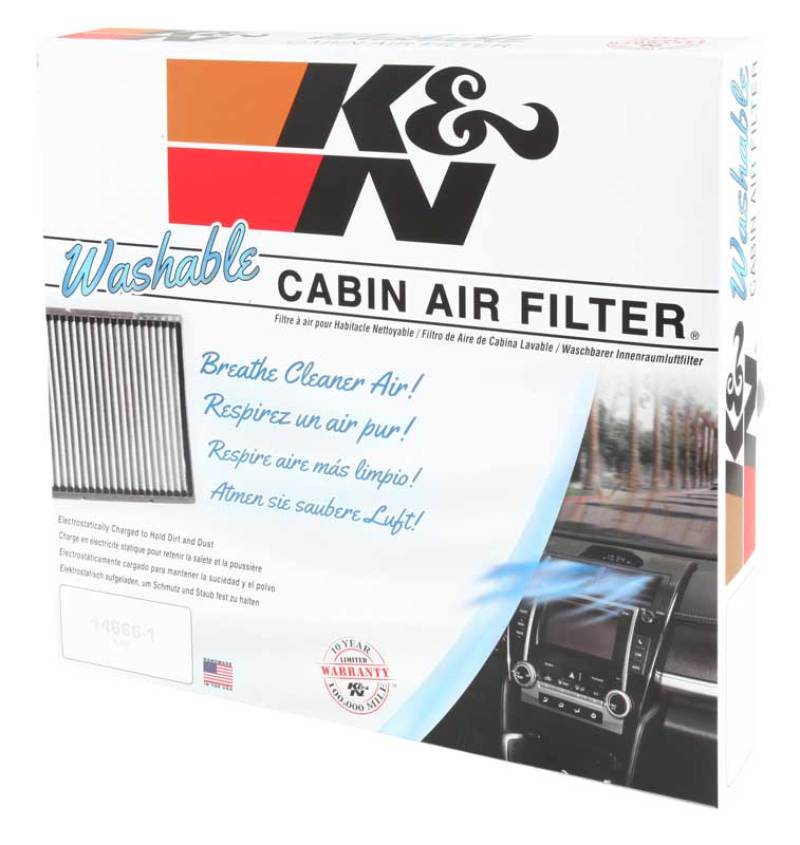 K&N 99-03 Acura TL / 01-03 Acura CL / 98-02 Honda Accord 2.3L/3.0L Cabin Air Filter (2 Per Box)