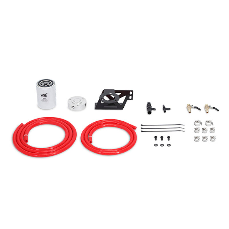 Mishimoto 08-10 Ford 6.4L Powerstroke Coolant Filtration Kit - Red