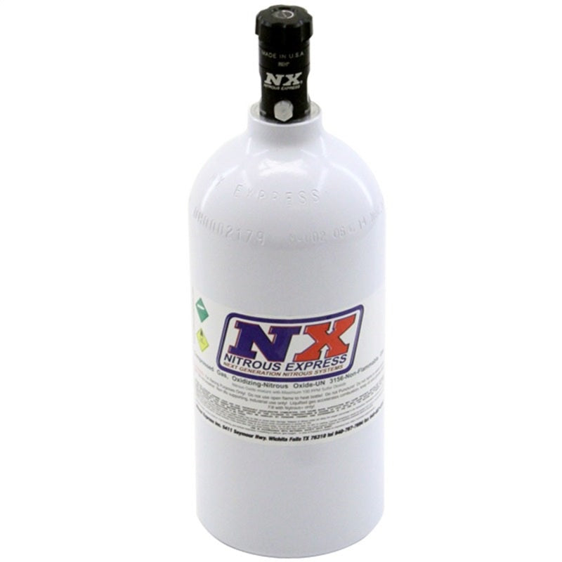 Nitrous Express 2.5lb Bottle w/Motorcycle Valve (4.38 Dia x 12.37 Tall)