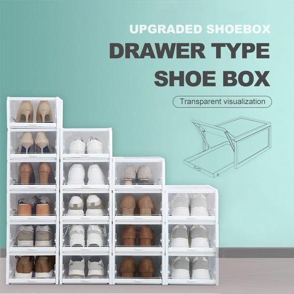 DRAWER TYPE SHOE BOX(A SET OF 6) - ZeCart™