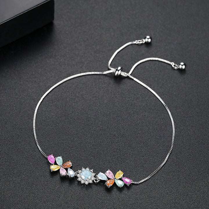 Simple Multi Color Stone Bracelet - Enumu