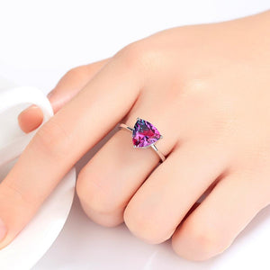 Sterling Silver Rainbow Fire Mystic Topaz Ring - Enumu
