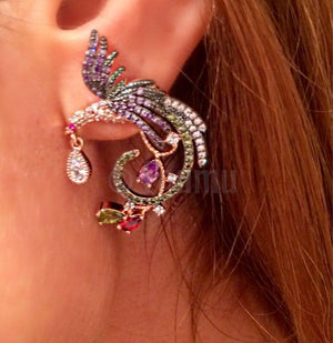 Designer Bird Super Big Stud Earrings - Enumu