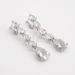 Diamond Necklace with Earrings Set - Enumu
