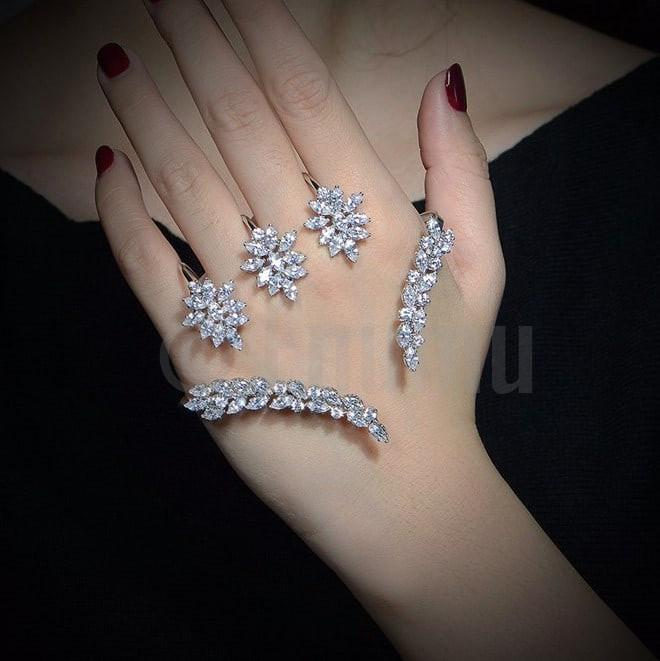Swiss Zircon Hand Accessory or Knuckle Rings - Enumu