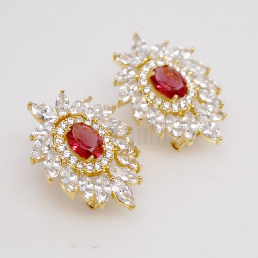Super Big YGP Ruby Studs - Enumu