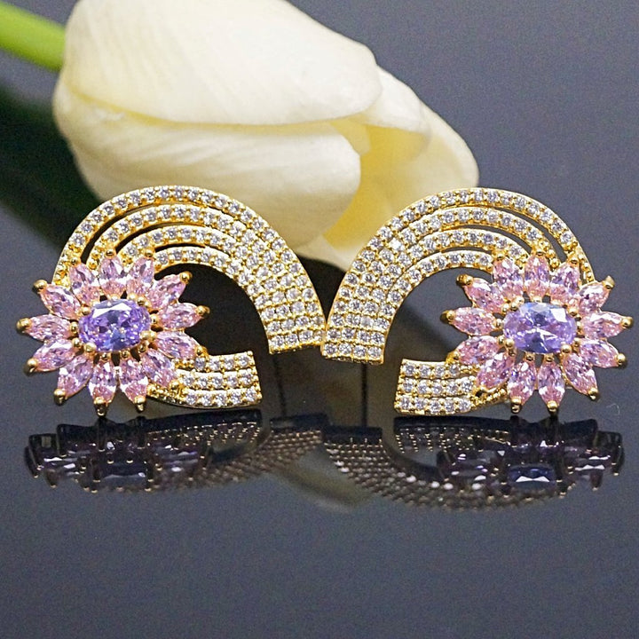 YGP Super Big Tourmaline CZ Flower  Studs - Enumu