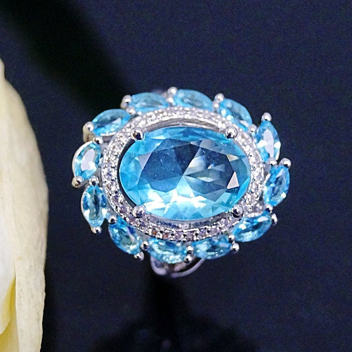 Super Big Aquamarine Ring - Enumu