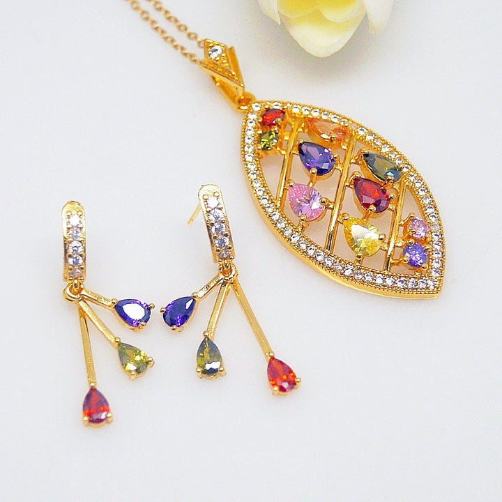 Multi Color Necklace set - Enumu