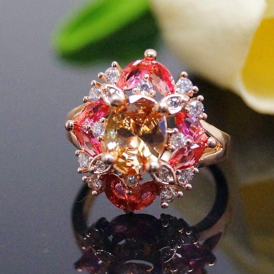 Champagne Ruby Ring - Enumu