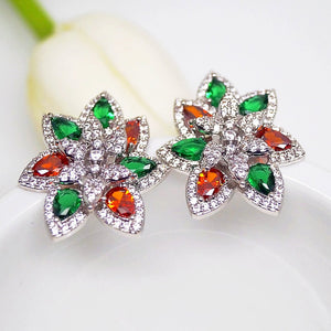 Big Orange & Green Studs - Enumu