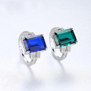 Sterling Silver Blue Sapphire Ring - Enumu