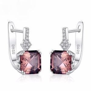 Sterling Silver Smoky Quartz Small Hoops - Enumu