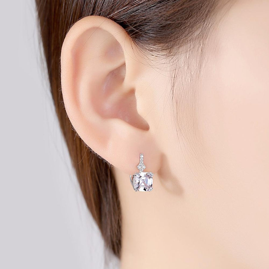 Sterling Silver Zircon Small Hoops - Enumu