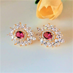 Super Big YGP Ruby Studs
