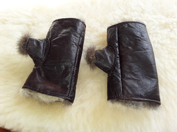 Fingerless Possum Mitts with Thumbs for pain relief