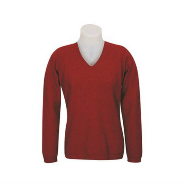 Vee Neck Plain Sweater KC396
