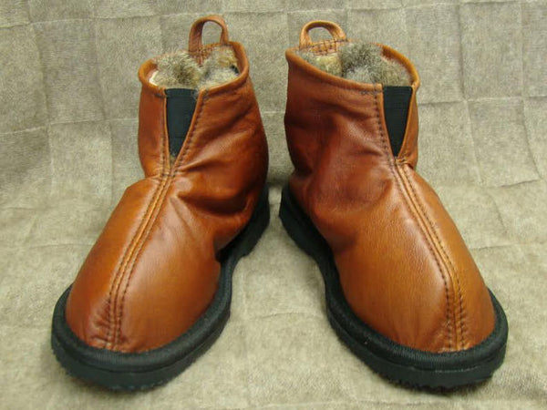 Possum  Pull-on Leather and fur Boots